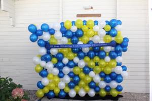 Ballonnen barricade voor de vakantiewoning